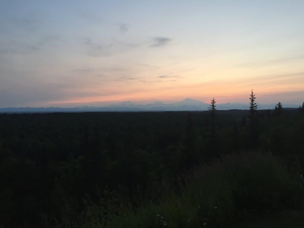 sunset over Denali