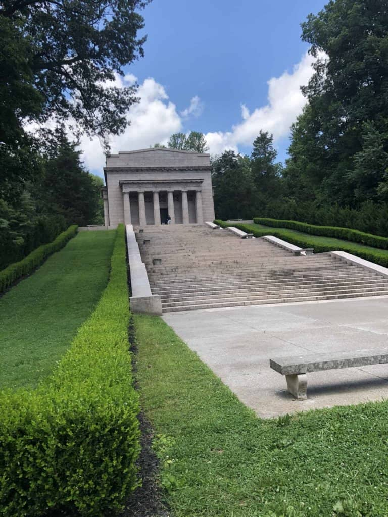 Abraham Lincoln memorial at birthplace site