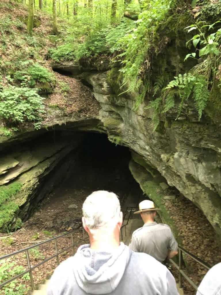 entering Mammoth Cave