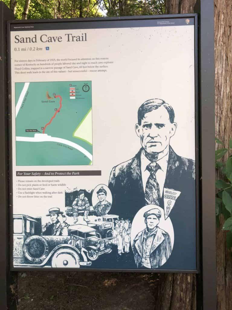 Floyd Collins historical trap inside Sand Cave