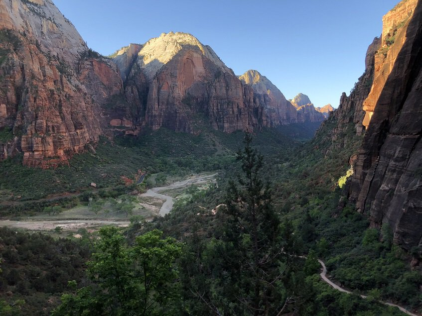 Overlooking canyon from Angel's Landing hike