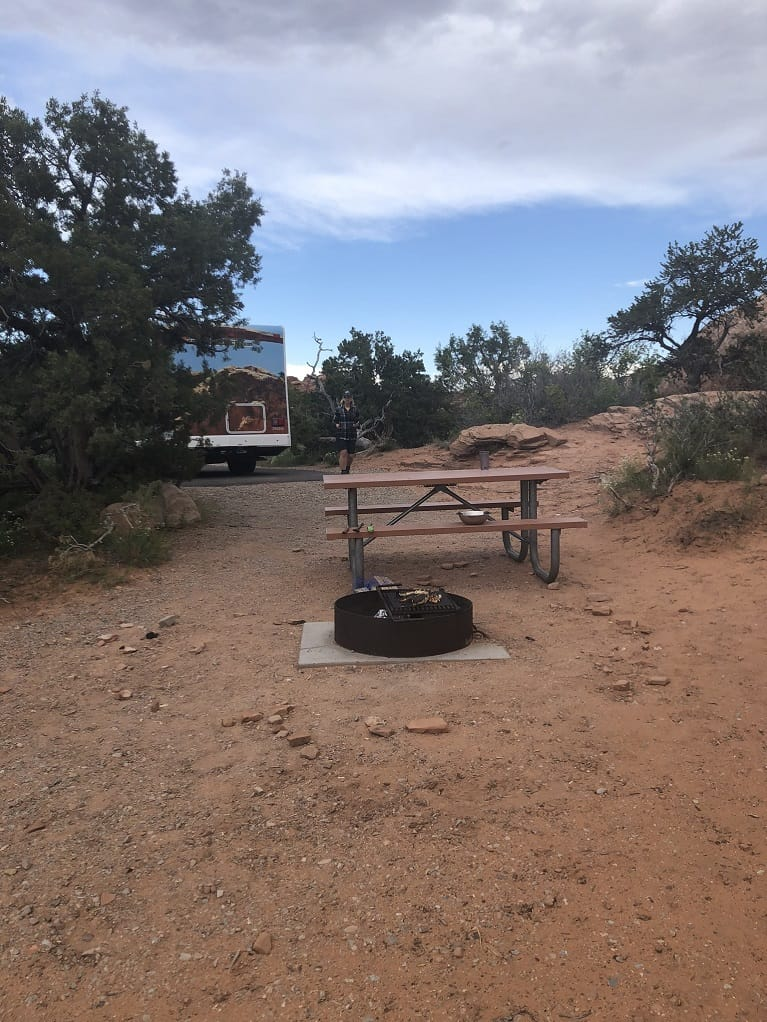 Campsite at Arches National Park