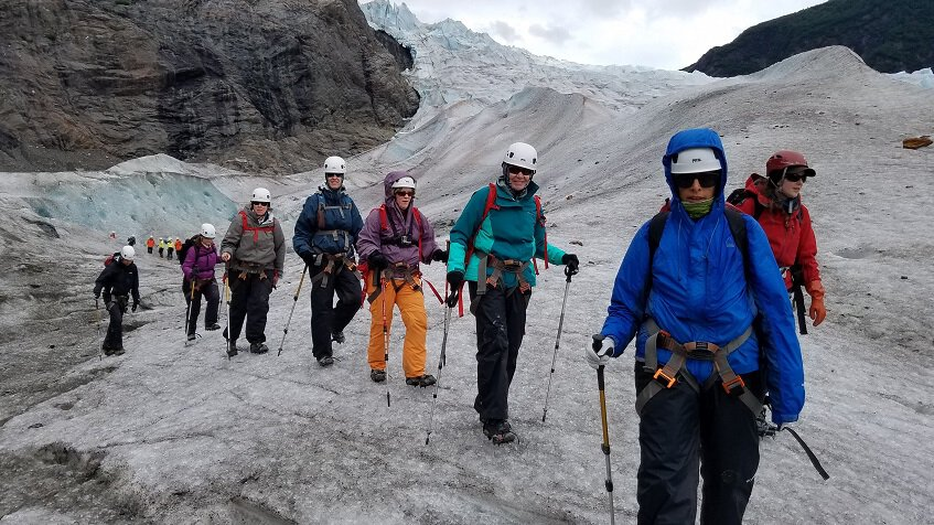 Glacier walk at Mendenhall