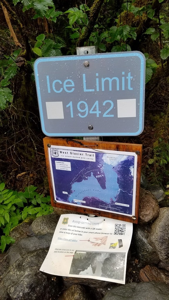 Mendenhall glacier ice limit in 1942