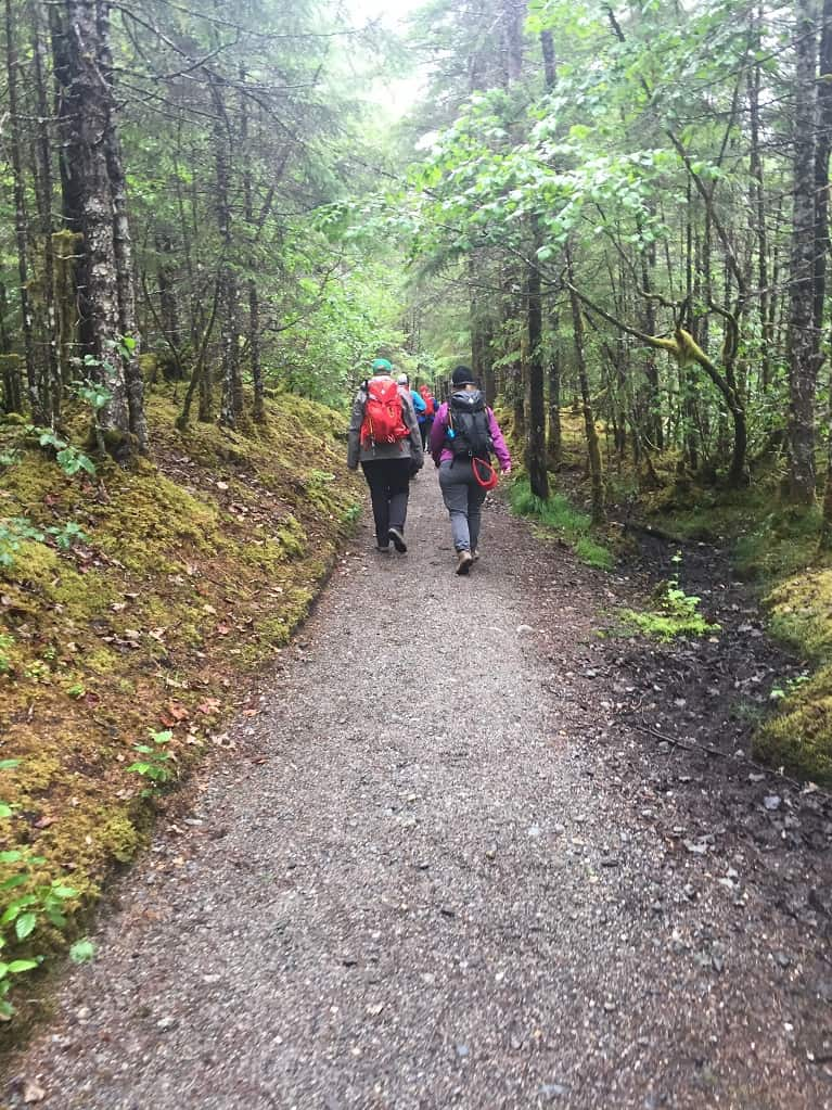 Hiking to Mendenhall Glacier in the Tongass National Forest