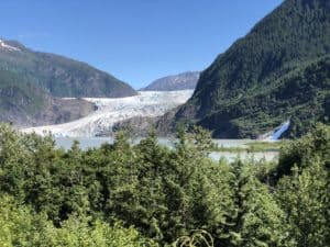 First view of Mendenhall Glacier