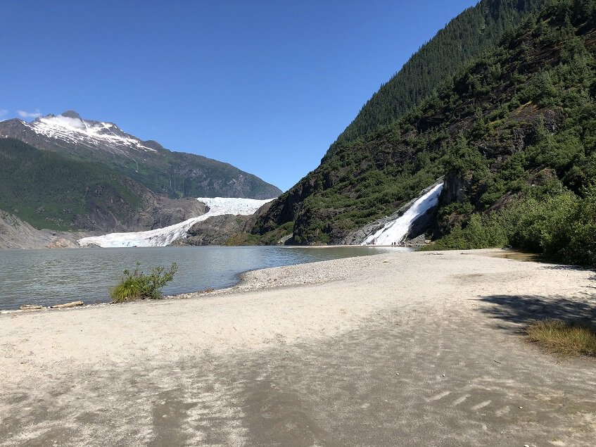 View of Mendenhall Glacier from Visitor Center