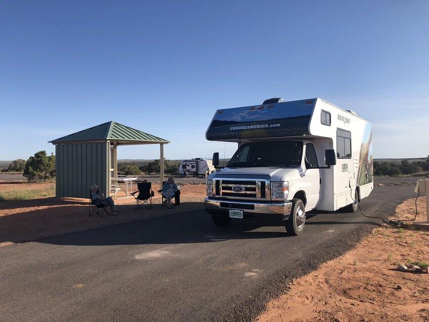 RV in campsite at Dead Horse Point State Park