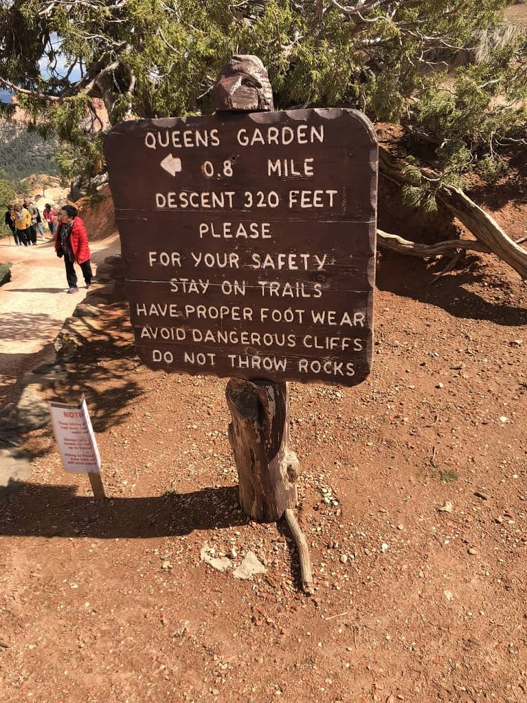 Queens Garden trail in Bryce Canyon National Park