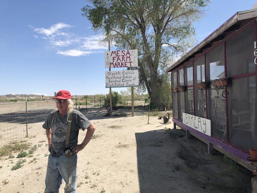 Randy outside Mesa Farm Market