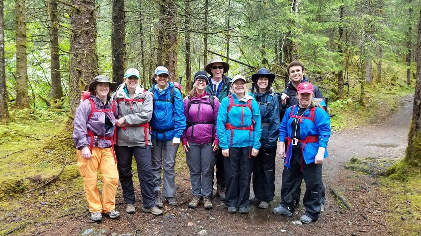 Ready to start our glacier trek to Mendenhall