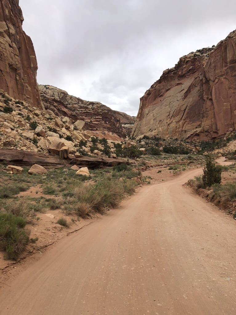 Road to Capitol Gorge in Capitol Reef National Park