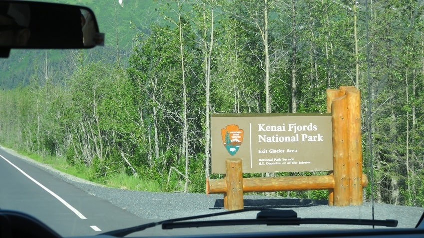 Entering Kenai Fjords National Park