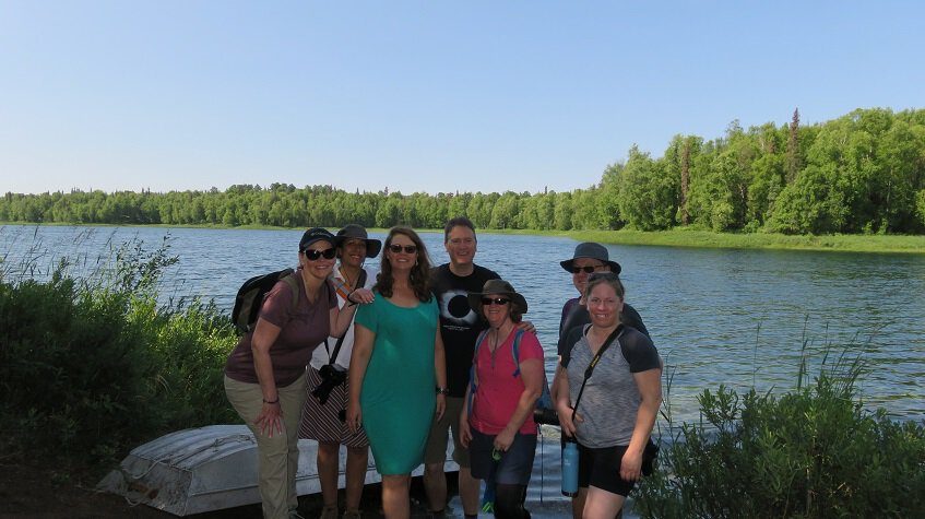 Hiking around Talkeetna Lakes