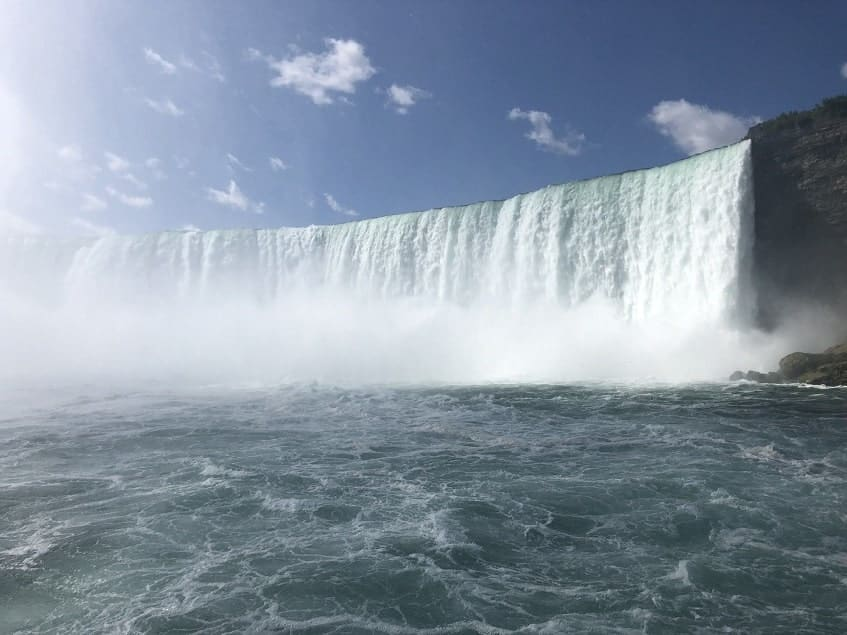 View of Niagara Falls from the Hornblower
