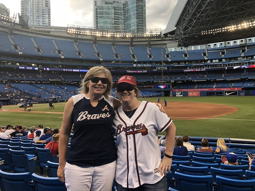 Rooting for the Braves at Rogers Centre