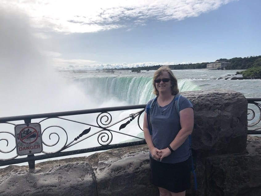 Standing at the Overlook above Horseshoe Falls