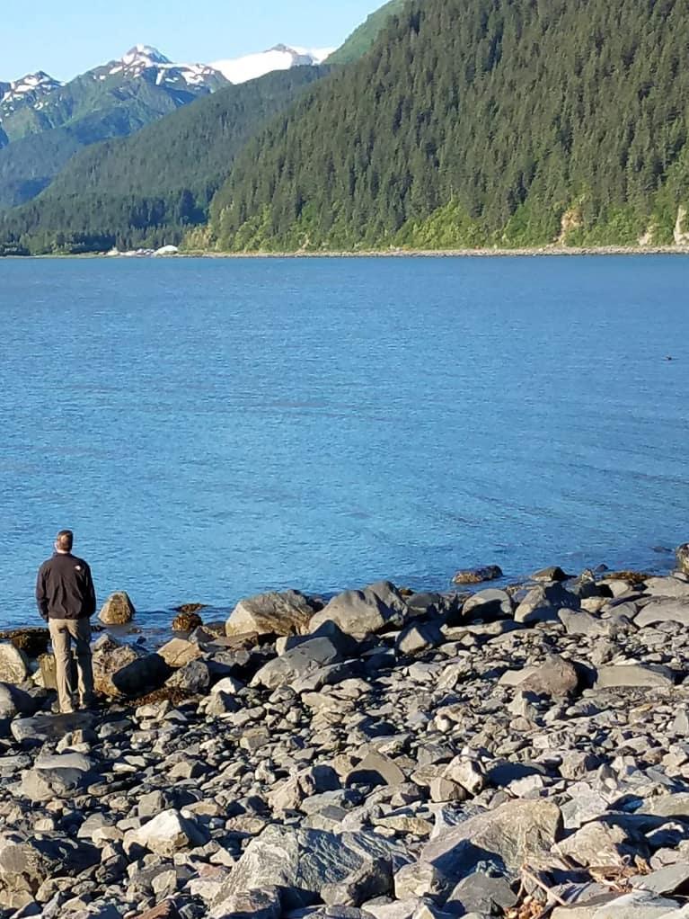 Walking around Resurrection Bay in Seward, Alaska