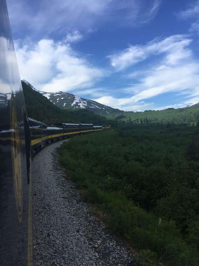 The Coastal Classic train ride to Seward, Alaska