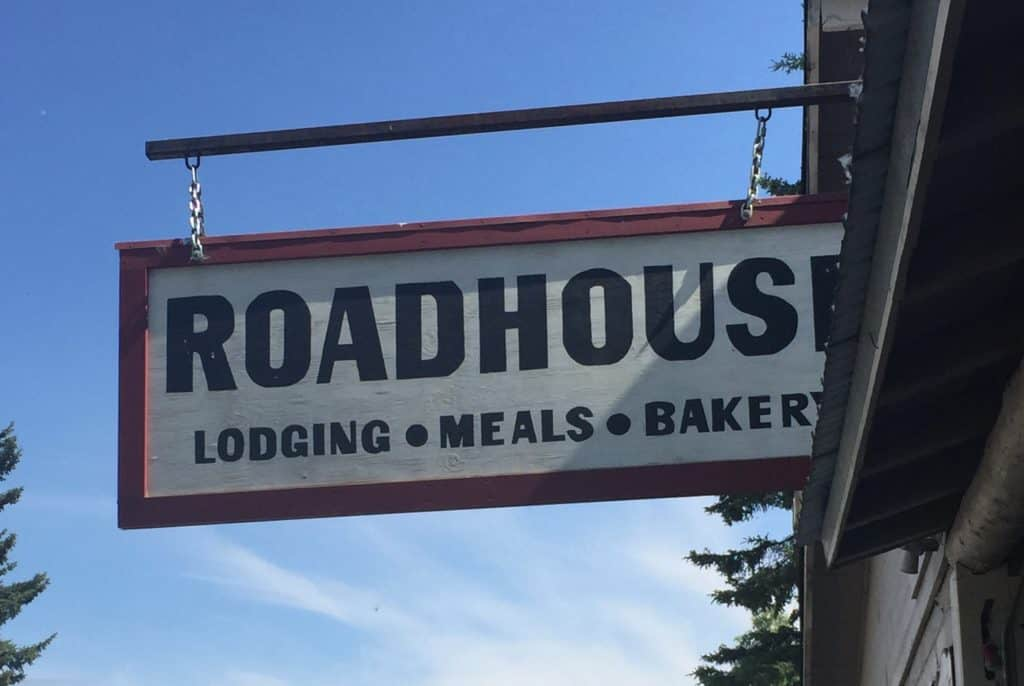 The Roadhouse sign