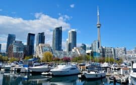Toronto skyline from the harbor
