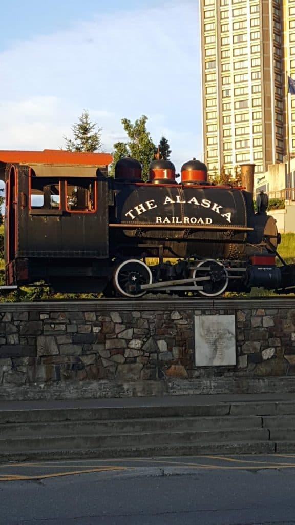 Old Alaska Railroad Engine