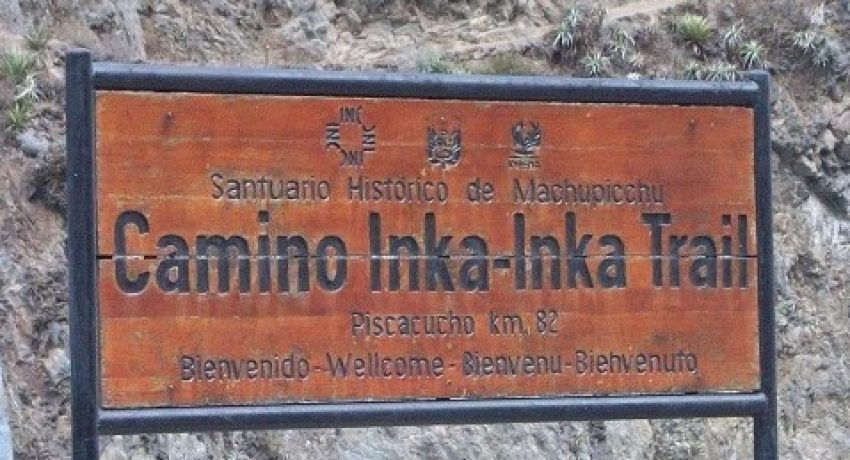 Inca Trail sign